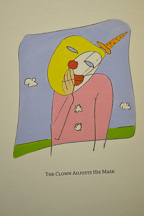 The Clown Adjusts His Mask