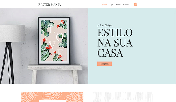 Design website templates – Loja de poster