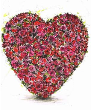 Trauerkarte Herz