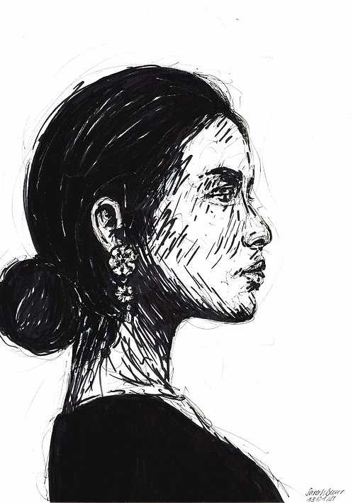 Young Woman Sketch 1