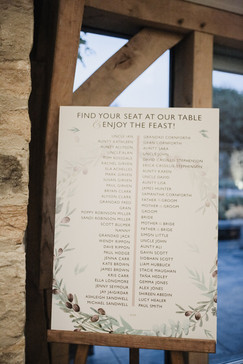 FOLIGE WREATH Table Plan