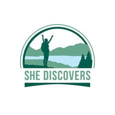 SHE DISCOVERS LOGO