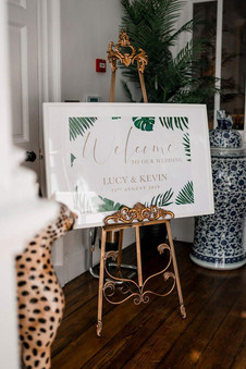 PALM LEAVES Welcome poster
