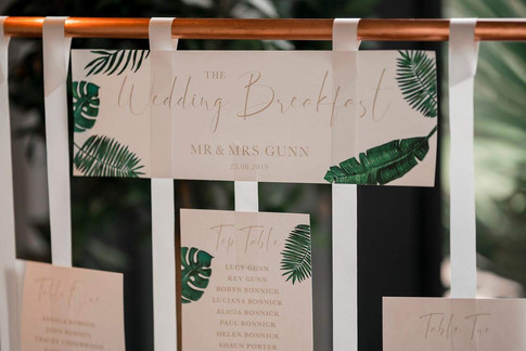 PALM LEAVES Table Plan