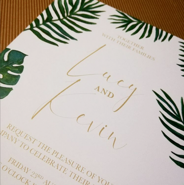 PALM LEAVES invite