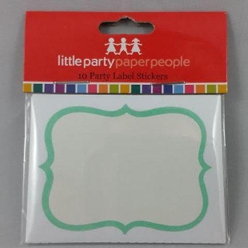 Party Labels - Mint Blue