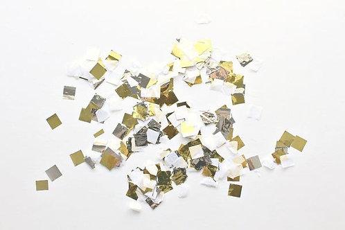 Confetti - Metallic Gold, Silver & White