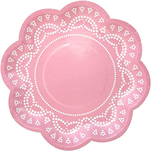 Lovely Lace - Pastel Pink Plates