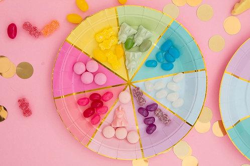 Colour Wheel Plates (set of 10)