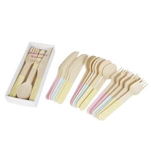 Glitter Bamboo Cutlery Set