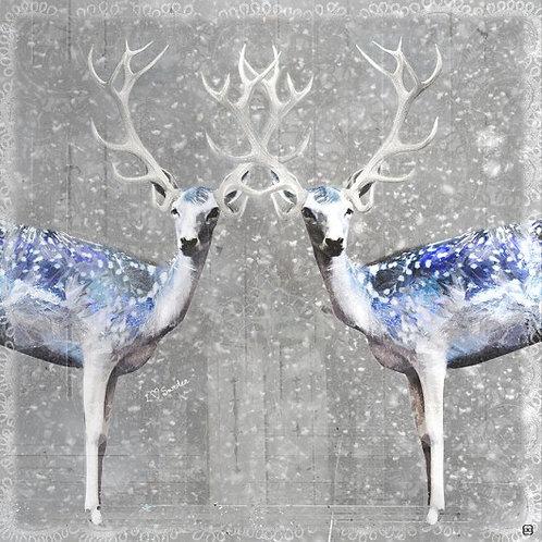 """Canvas """"Jelenie w śniegu"""""""