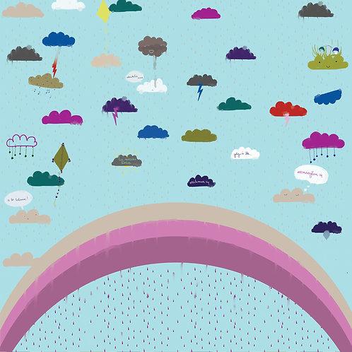 """Folia meblowa ekologiczna """"Clouds talk"""""""