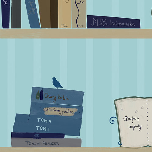 "Ekologiczna tapeta flizelinowa ""Magic books"""