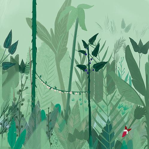 "Folia meblowa ekologiczna ""My own jungle"""