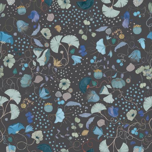 "Ekologiczna tapeta flizelinowa ""Weave gray&mint"""