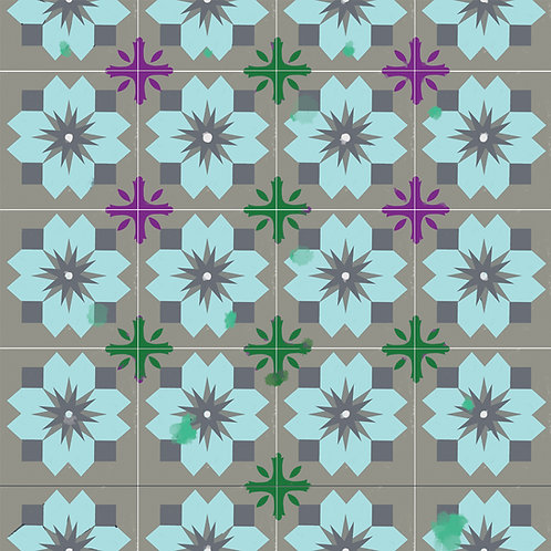 """Ekologiczna tapeta flizelinowa """"Tiles from Mexico"""""""