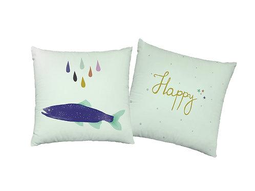 """Poszewka dekoracyjna """"Happy fish"""""""