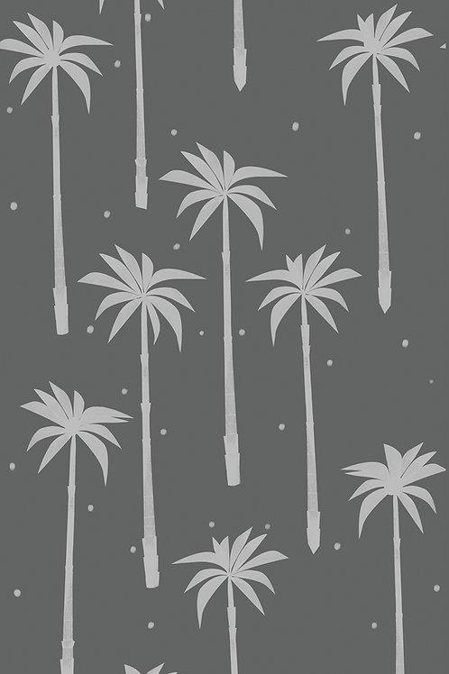 """Ekologiczna tapeta flizelinowa """"Palms gray forest"""""""