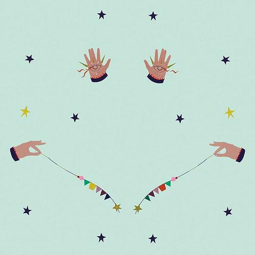 "Ekologiczna tapeta flizelinowa ""Magic hands"""