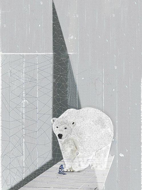 """Grafika """"Nocny niedźwiedź"""", A4"""