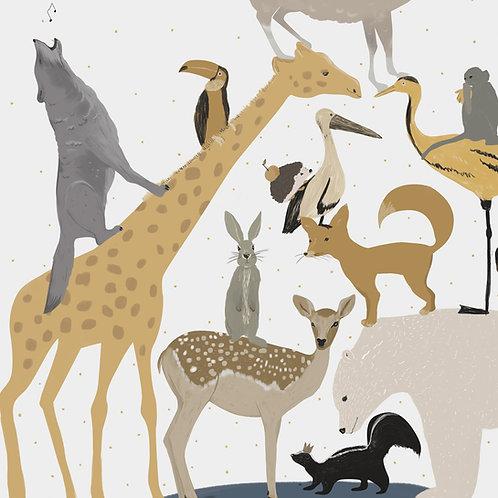 """Ekologiczna tapeta flizelinowa """"Animals fun"""""""