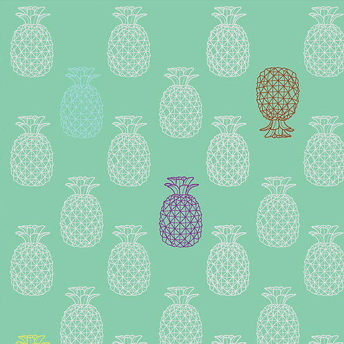"Ekologiczna tapeta flizelinowa ""Pineapple"""