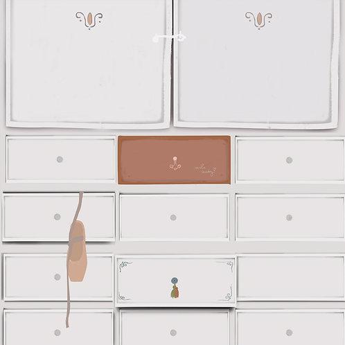 "Ekologiczna tapeta flizelinowa ""Girly drawer"""