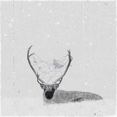 "Canvas ""Renifer w śniegu"""