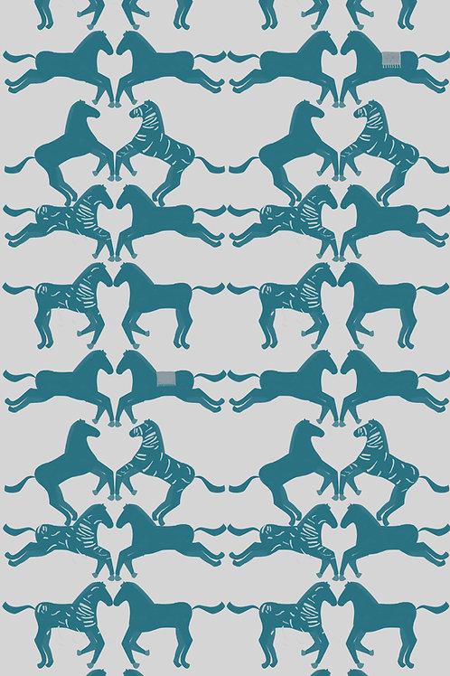 """Ekologiczna tapeta flizelinowa """"Blue pony"""""""