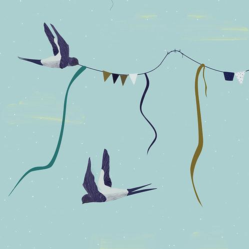 """Ekologiczna tapeta flizelinowa """"Follow the swallow"""""""