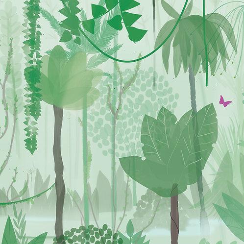 "Ekologiczna tapeta flizelinowa ""Mint jungle"""