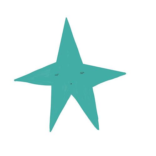 "Naklejka ścienna ""Blue star"""