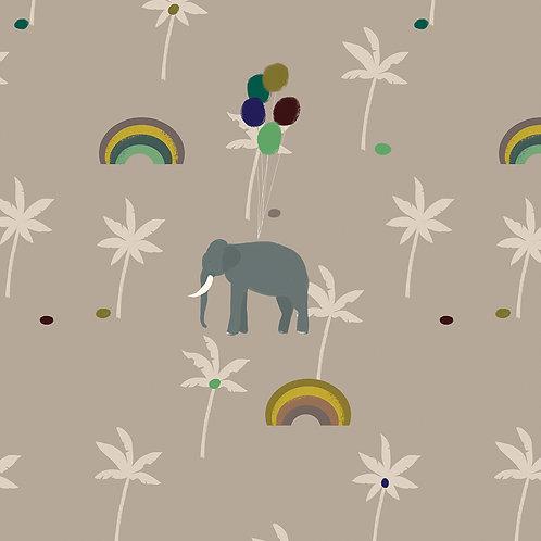 """Ekologiczna tapeta flizelinowa """"Rainbow palm trees"""""""