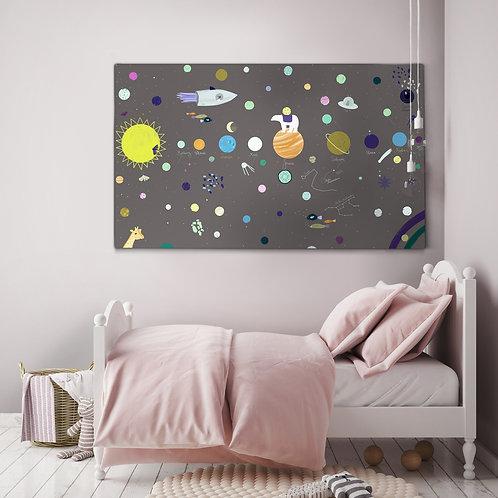 """Canvas """"W kosmosie"""""""