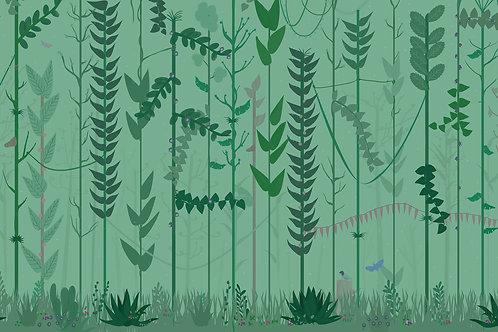 """Ekologiczna tapeta flizelinowa """"Mint forest"""""""