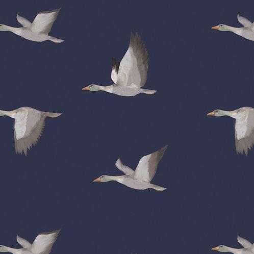 "Ekologiczna tapeta flizelinowa ""Flying ducks"""