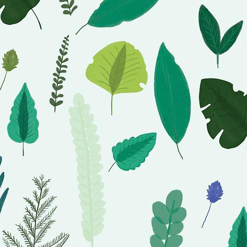 """Ekologiczna tapeta flizelinowa """"Floral palmas"""""""