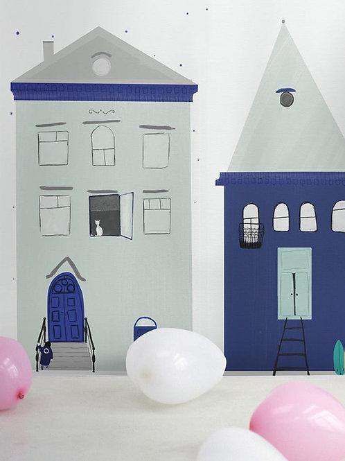 "Ekologiczna tapeta flizelinowa ""Doll Houses"""