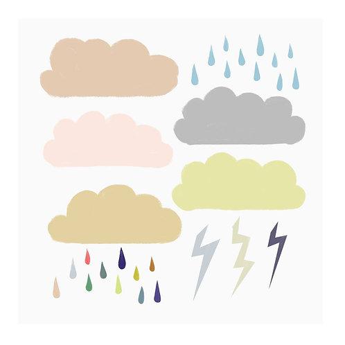 """Naklejki ścienne """"Rainy day"""""""