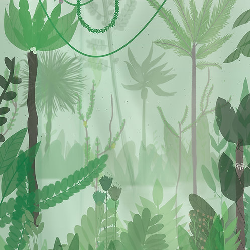 "Folia meblowa ekologiczna ""Mint jungle"""