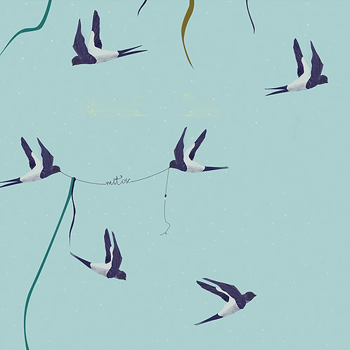 """Folia meblowa ekologiczna """"Follow the swallow"""""""