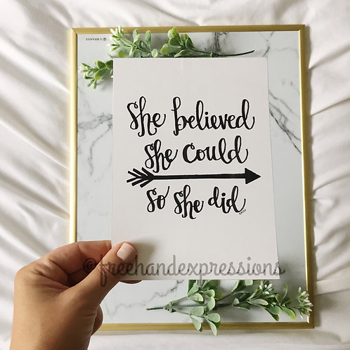 She Believed She Could (B10)