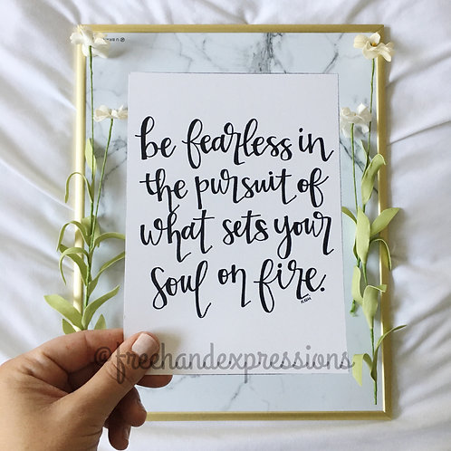 Be Fearless in the Pursuit (E1)