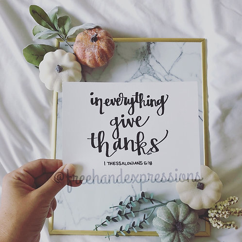 In Everything Give Thanks (T6)
