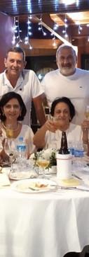 Família Boueri na festa de Ano Novo do restaurante da Hipica