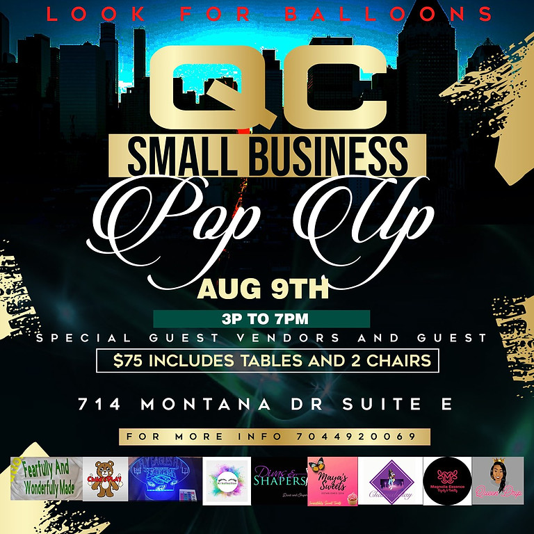 QC Small Business Showcase Pop Up