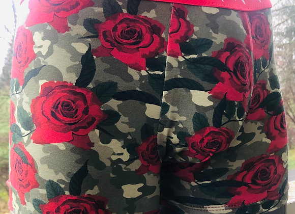 "Retro Boxer ""Camouflaged Roses"""