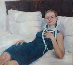 1. Vadim Suvorov. Lady on sofa. 36x39 inches oil on canvas. $4500.jpg