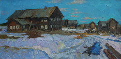 Alexi Kamenev. Northen Village. 30x60in . oil on canvas.jpg