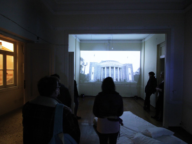 """Installation View, """"Resides and works in Athens"""" Supported by CHEAPART"""